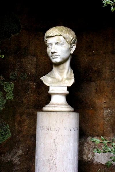 Гербицид - Бюст Вергилия около его склепа,</p>Неаполь